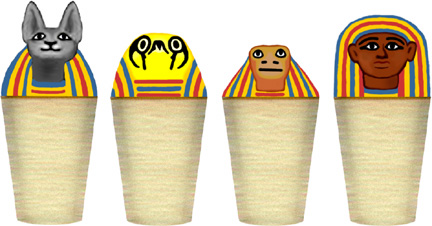 ancient egypt for kids canopic jars